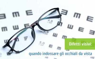 Difetti visivi: quando indossare gli occhiali da vista